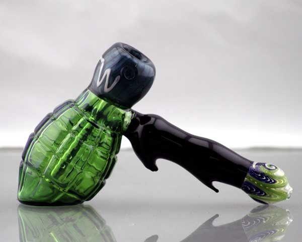Green Hand Grenade Hammer PIpe