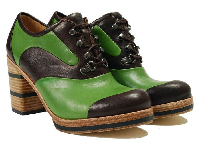 10/1/11 brown/green camper shoes. Happy Birthday Julie Andrews!