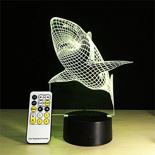 Gzcrdz 3d Lamp Remote Control Zebra Football Best Gift For Children Led Night Light Furniture Decorative Colorfu 3d Led Night Light Led Night Light Night Light