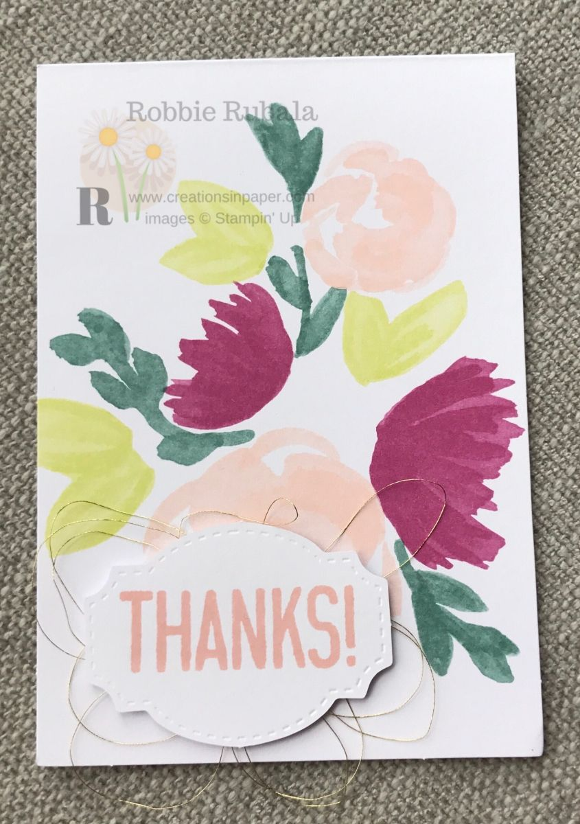 Stampinu up soft sayings thanks thank you cards pinterest easy