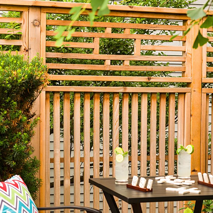 Create Pretty Backyard Privacy With Cedar Panels That Can