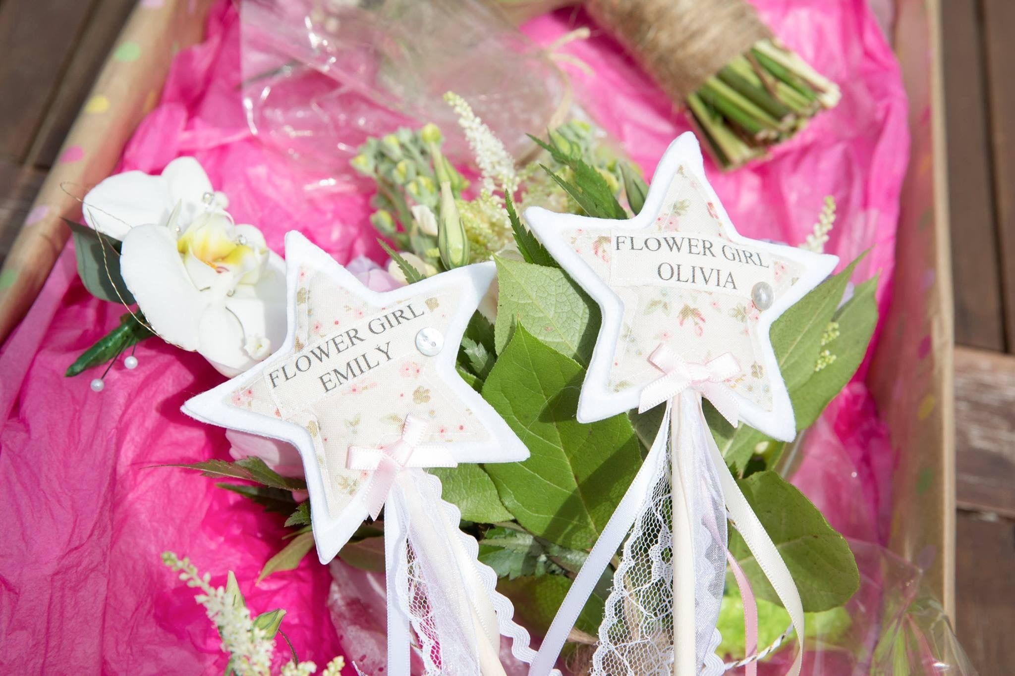 Flower Girl Star Wands Alternative To Bouquetpetal Basket