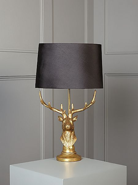 Living By E Lemieux Stag Table Lamp House Of Fraser