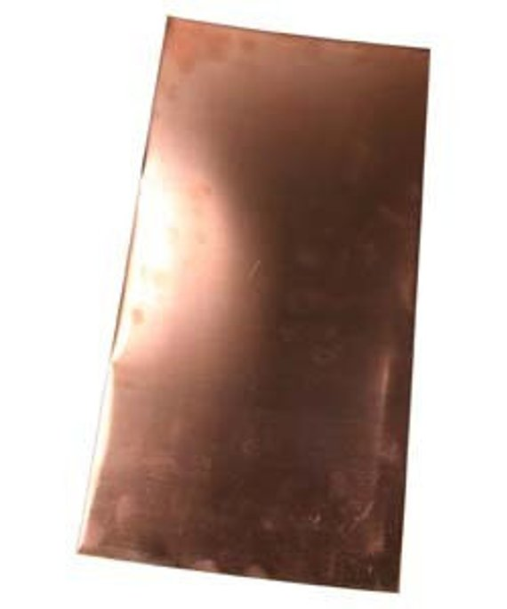 Copper Sheet 20ga 6 In X 3 In 80mm Thick Copper Sheets Metal Stamping Metal Working