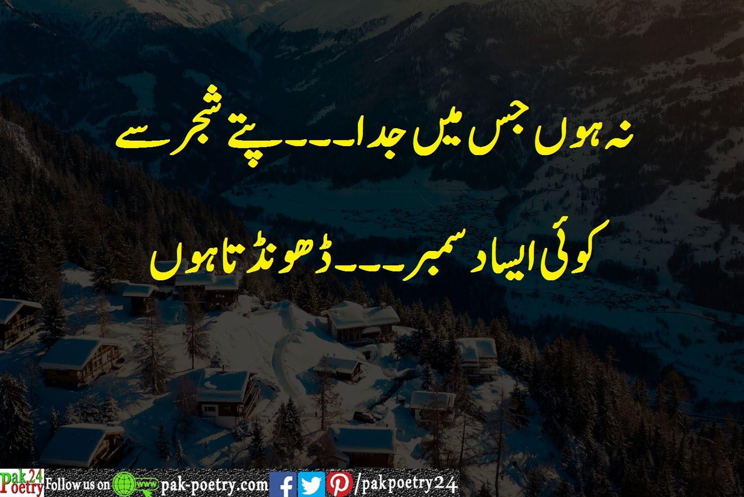 December Poetry Urdu - Top 5 Collection | Love poetry urdu ...
