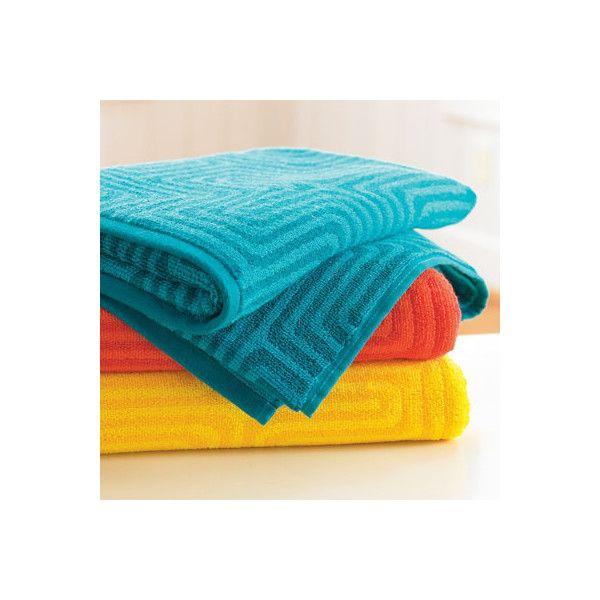 Grandin Road Trina Turk Amazing Maze Washcloth Sunshine 8 34
