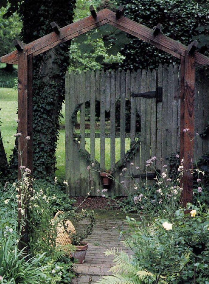 26 Gartentor Designs, die den Eintritt in den Garten spannender ...