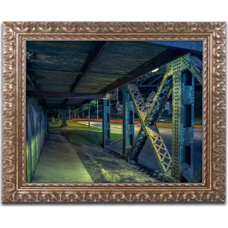 Trademark Fine Art Vampire Bridge 2 inch Canvas Art by Jason Shaffer, Gold Ornate Frame, Assorted