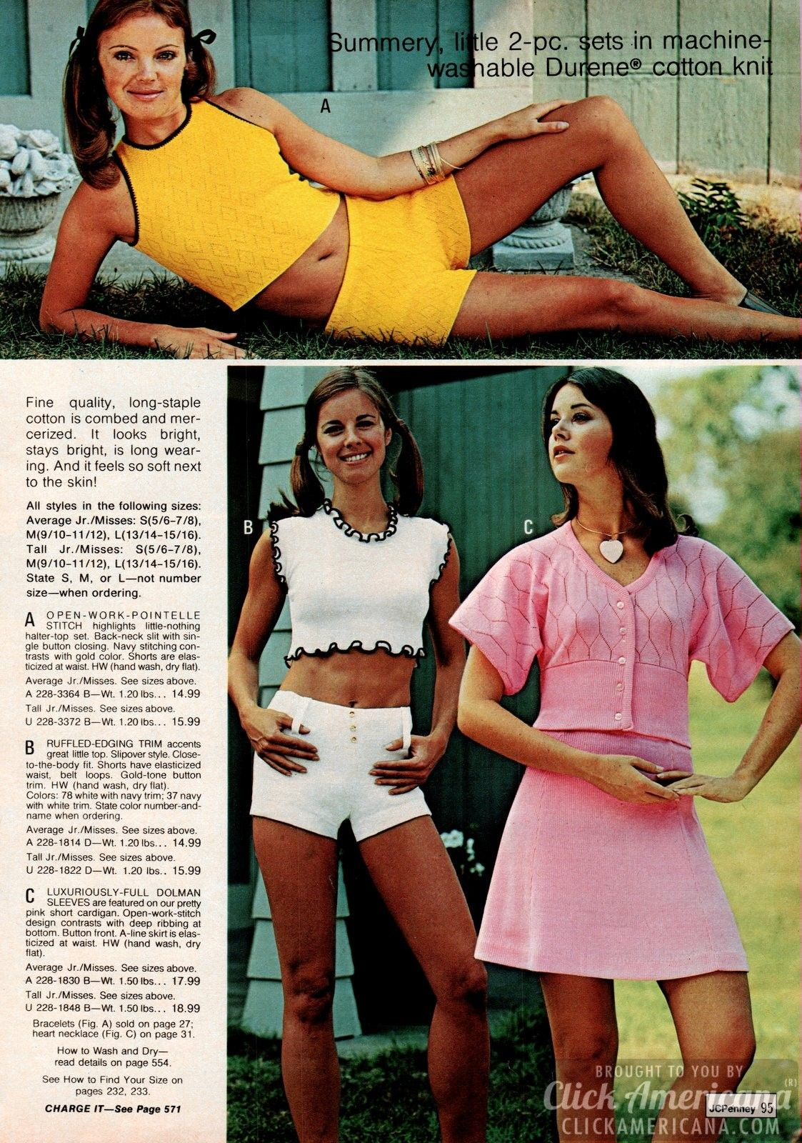 aa80437944457 Retro pants - 70s fashion for women from the 1973 JC Penney Catalog ...