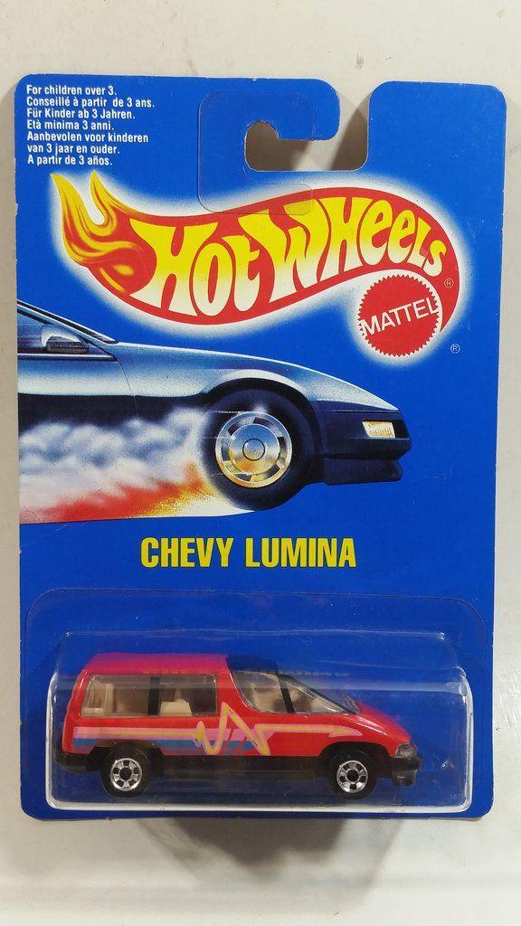 1992 Hot Wheels Chevy Lumina Minivan Red Van Die Cast Toy Car Vehicle New In Package Sealed Mini Van Yellow Vans Hot Wheels