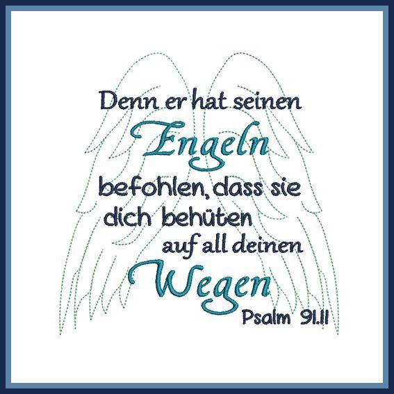 Stickdatei Spruch Psalm Engel #queenshats