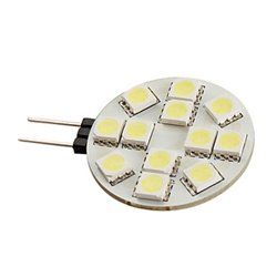 G4 12x5050 Smd 190lm White Light Led Bulb 12v Ampoule Lumiere