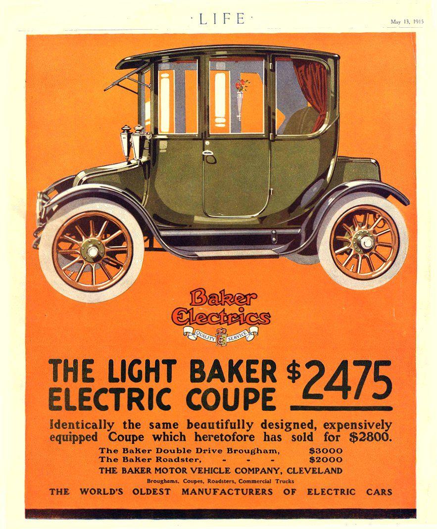 1915 Baker Electric Advert