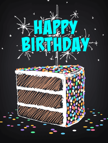 Artistic Celebration Cake Happy Birthday Card Birthday Greeting Cards By Davia Happy Birthday Messages Happy Birthday Cards Happy Birthday Greetings