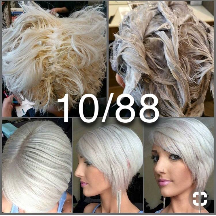 Icy Platinum Blonde With Silver Tone Formula Hair Color Formulas