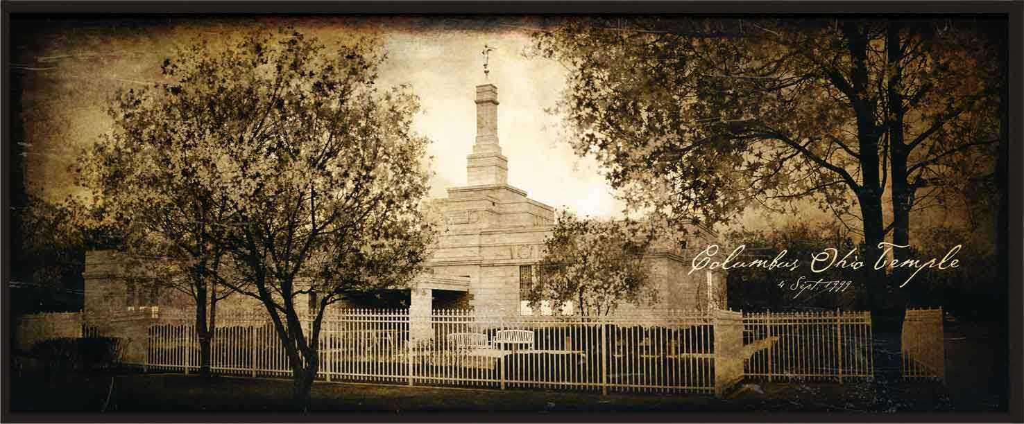 Wooden Temple Plaques $50  Columbus, Ohio Temple
