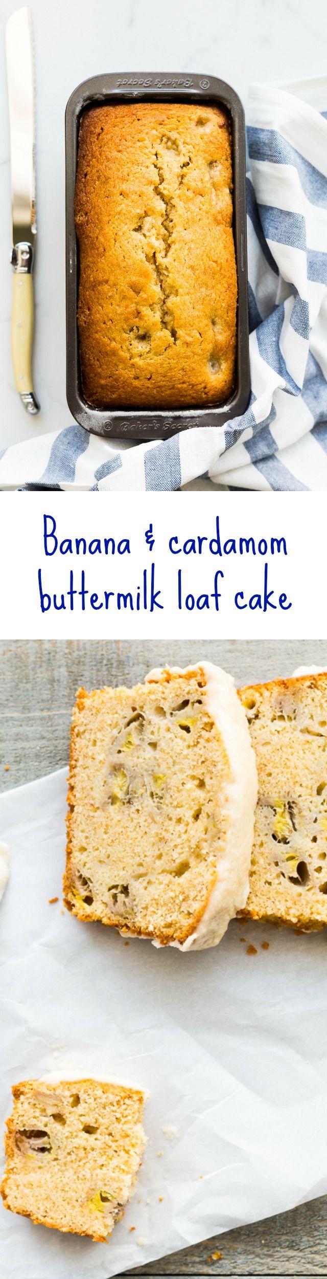 바나나&카다맘 버터밀크 로프 케이크