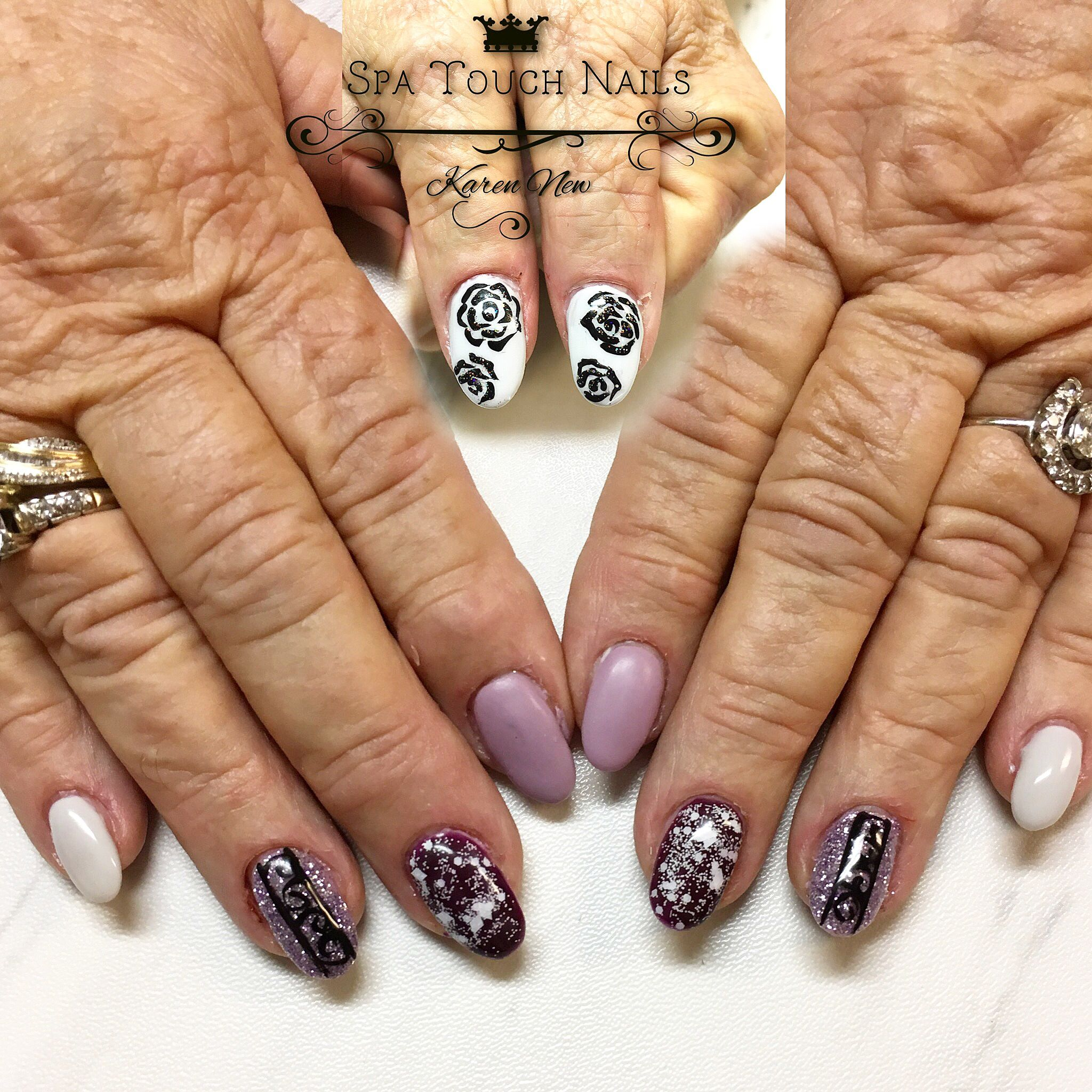 Spring Nails With Hard Gel Used Way Talented Relay Grey Puddle