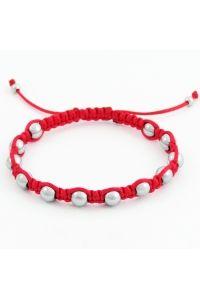 Náramok pletený červený - Hematit  6e692460c02