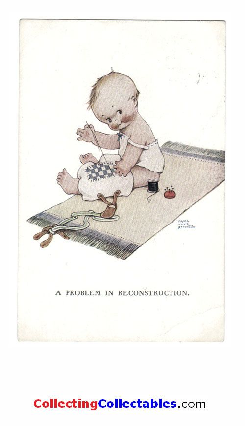 Mabel Lucie Attwell Postcards-A Problem In Reconstruction
