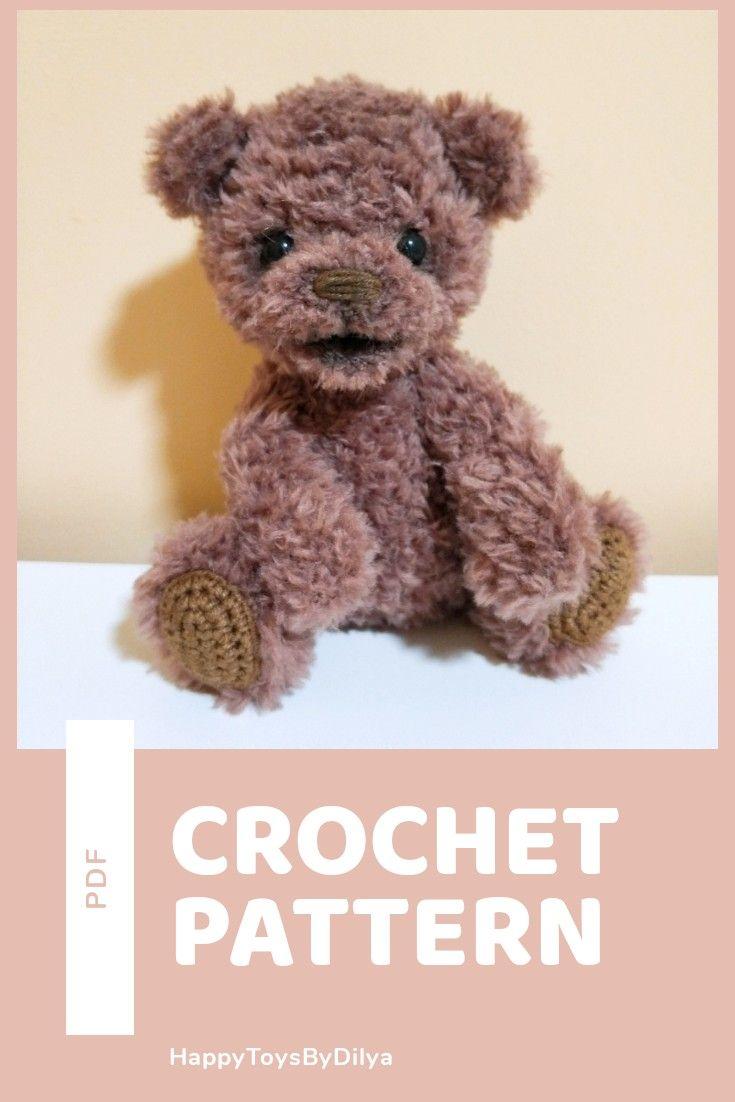 Crochet pattern teddy bear amigurumi pattern pdf pattern