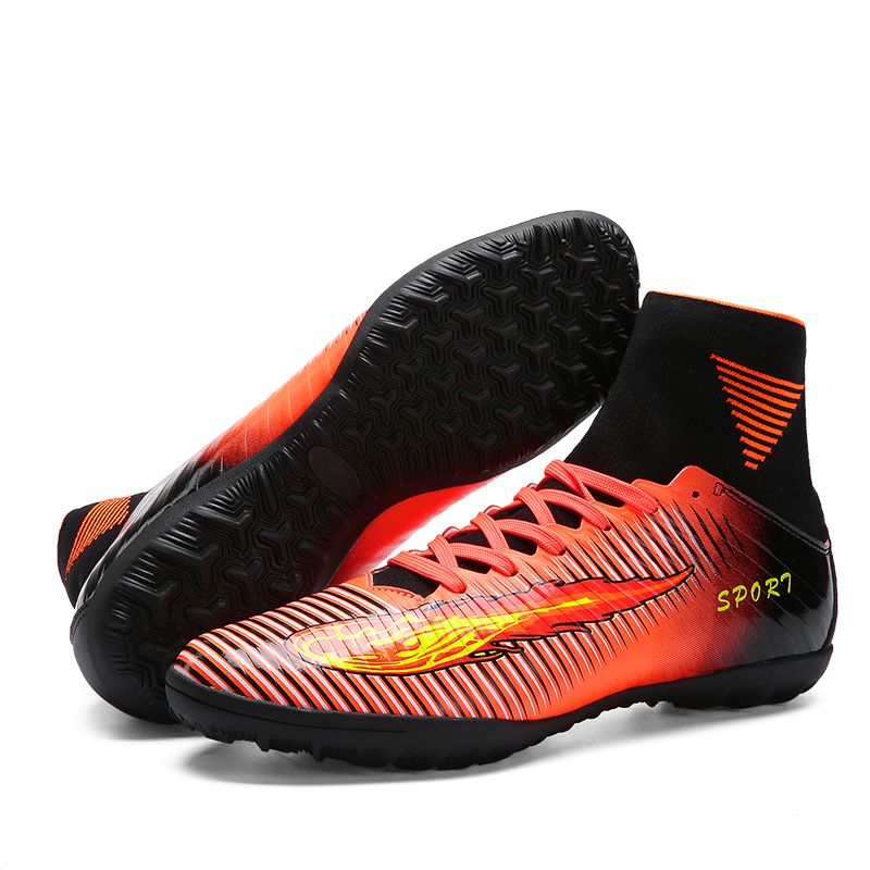fb5d23150 2017 High Quality Cheap Indoor Soccer Shoes Cleats High Ankle Kids Football  Boots Superfly Original Boys Girls Sneakers