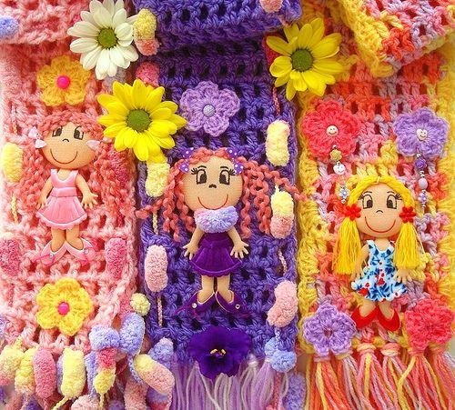 Fofas, cachecóis de crochê   Flickr - Photo Sharing!