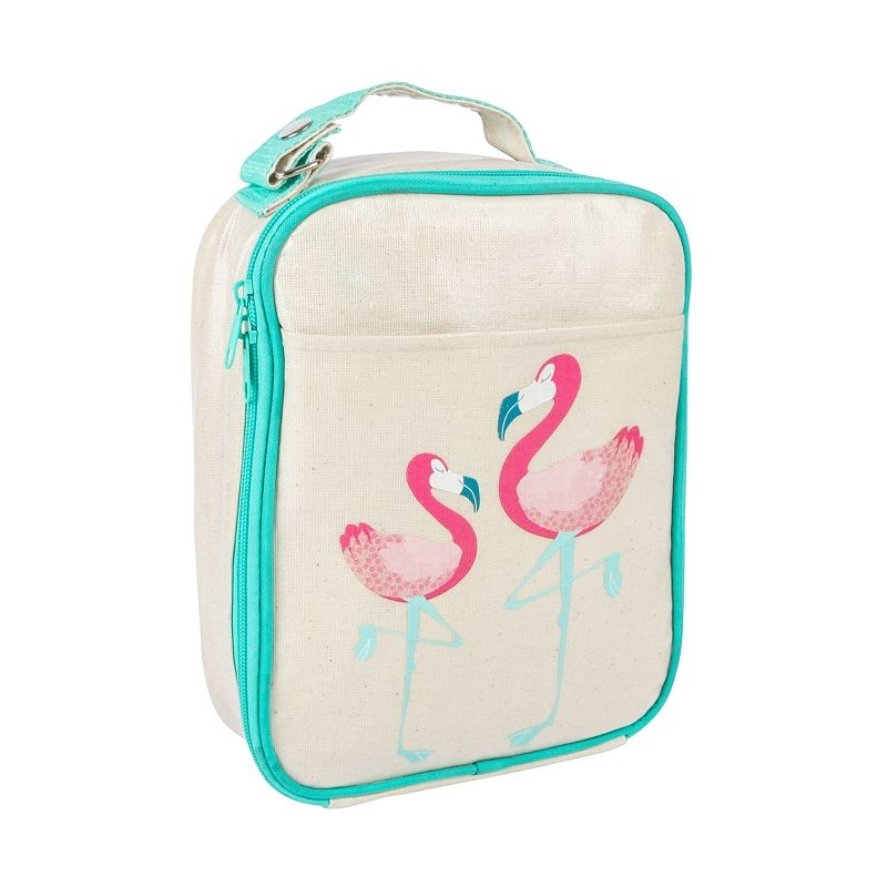 da38adc8b790 Apple & Mint Aqua Flamingo Insulated Lunch Bag for Kids, Cooling ...
