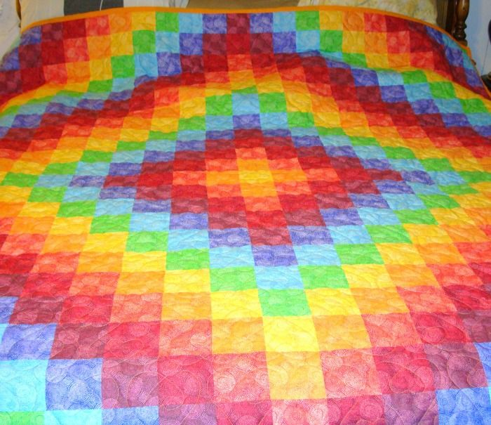 Rainbow Trip Around the World Quilt | Quilts | Pinterest ... : rainbow quilt pattern - Adamdwight.com