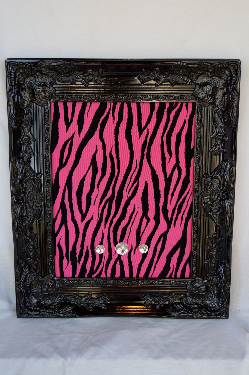 MAGNETIC BOARD 11x14 Pink and Black Zebra Fabric Teen Bedroom Decor Dorm  Room Memo Board Gift Wedding Sign Photo Prop. $67.00, via Etsy.