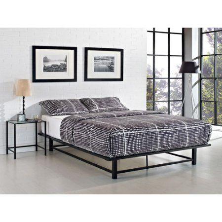 Dhi Parsons Powdered Coated Metal Ledge Platform Bed Multiple