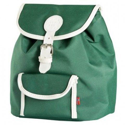 Retro Kinderrucksack – dunkelgrün