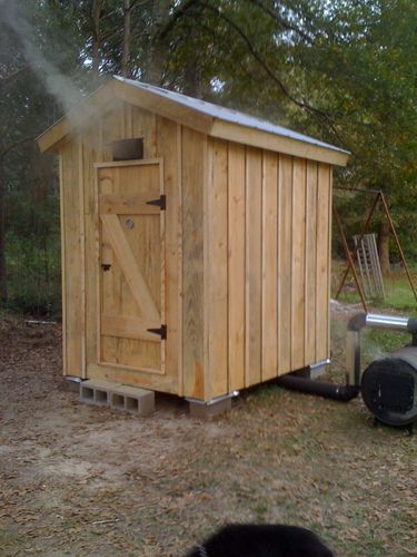 a full album showing how to build a diy smokehouse - Meat Smokehouse Plans