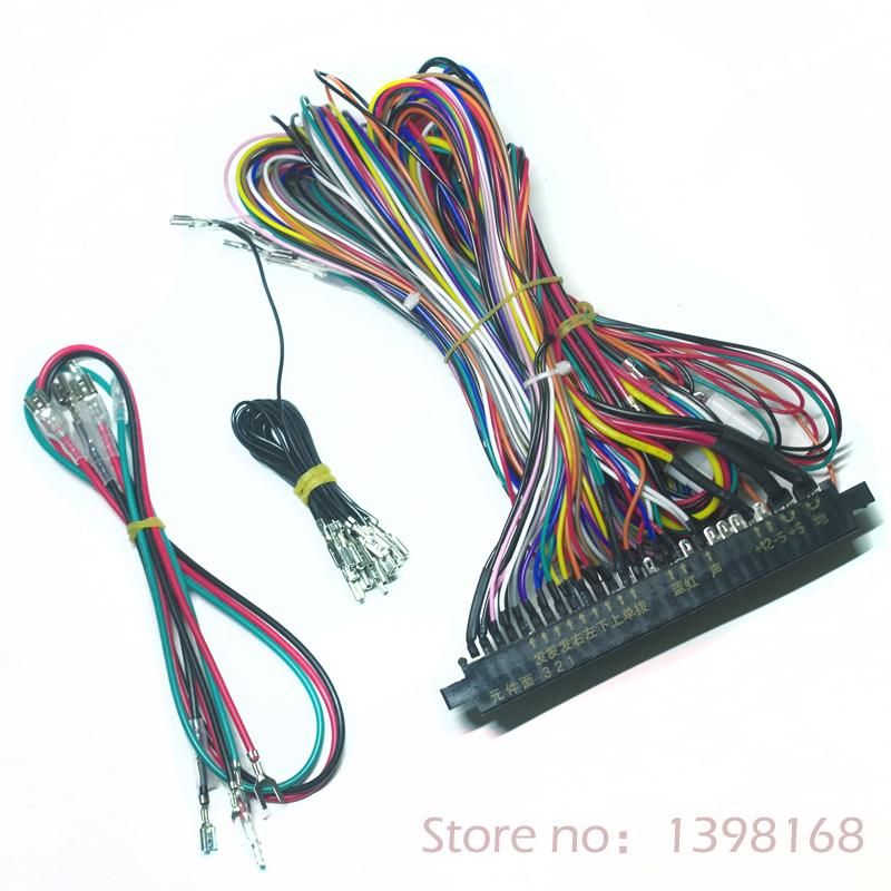 Visit to Buy] Jamma Harness 28 pin with 5,6 buttons wires for arcade ...