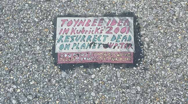 Photo Of A Toynbee Tile Located At 6th Boston In Tulsa