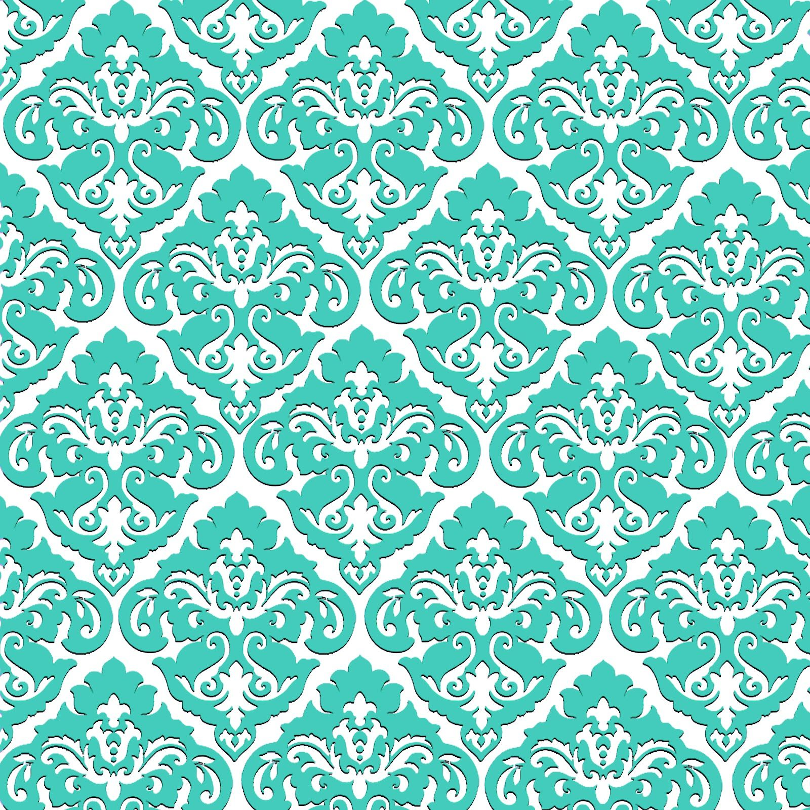 Damask printables with many color variations Teal