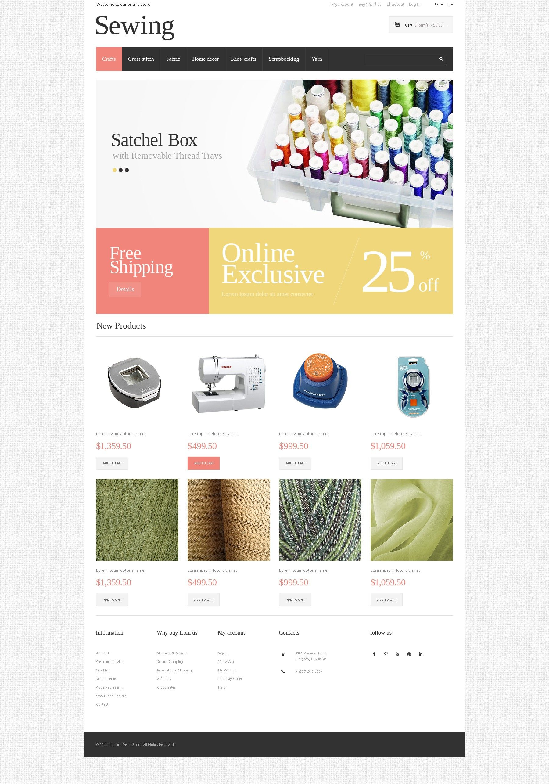 Sewing Store\' #webdesign #Magento e-Commerce Theme http://www.zign ...