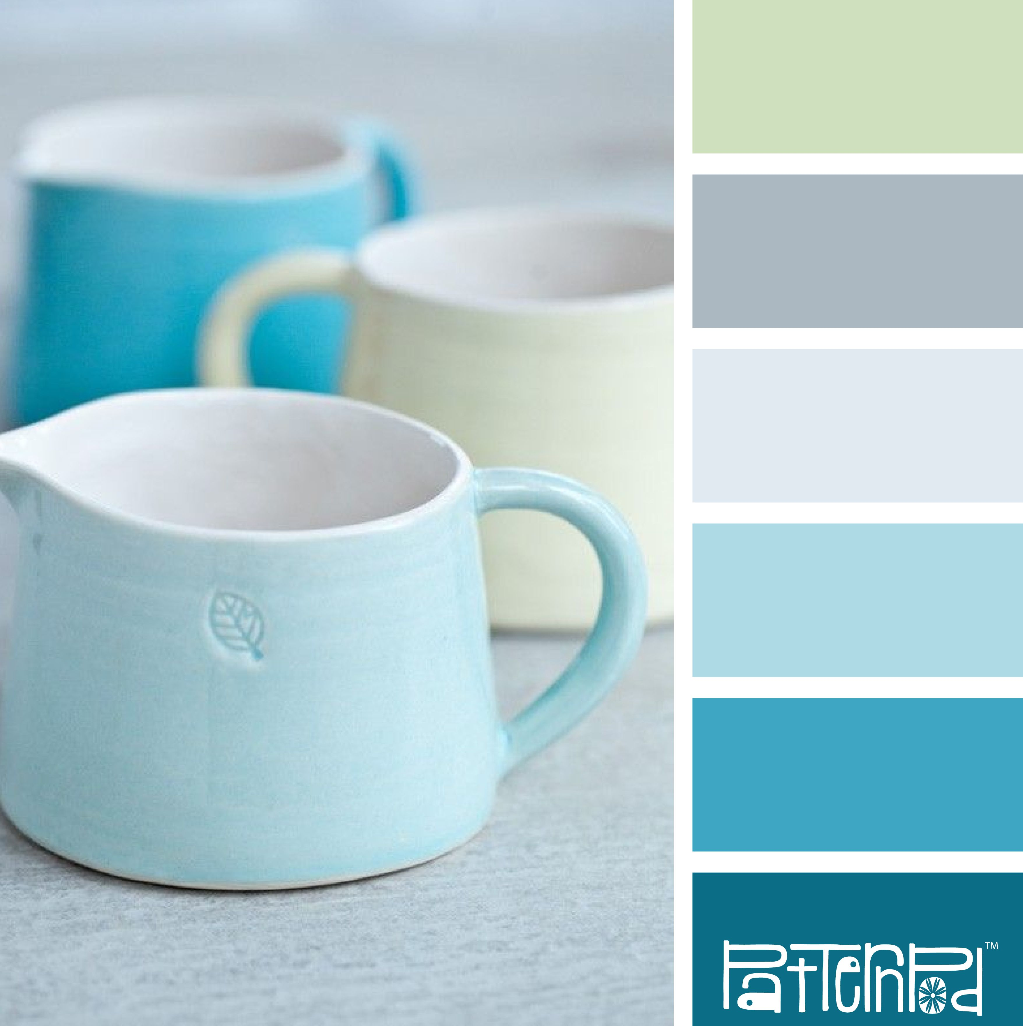 Potted pastels These colors would make a nice afghan