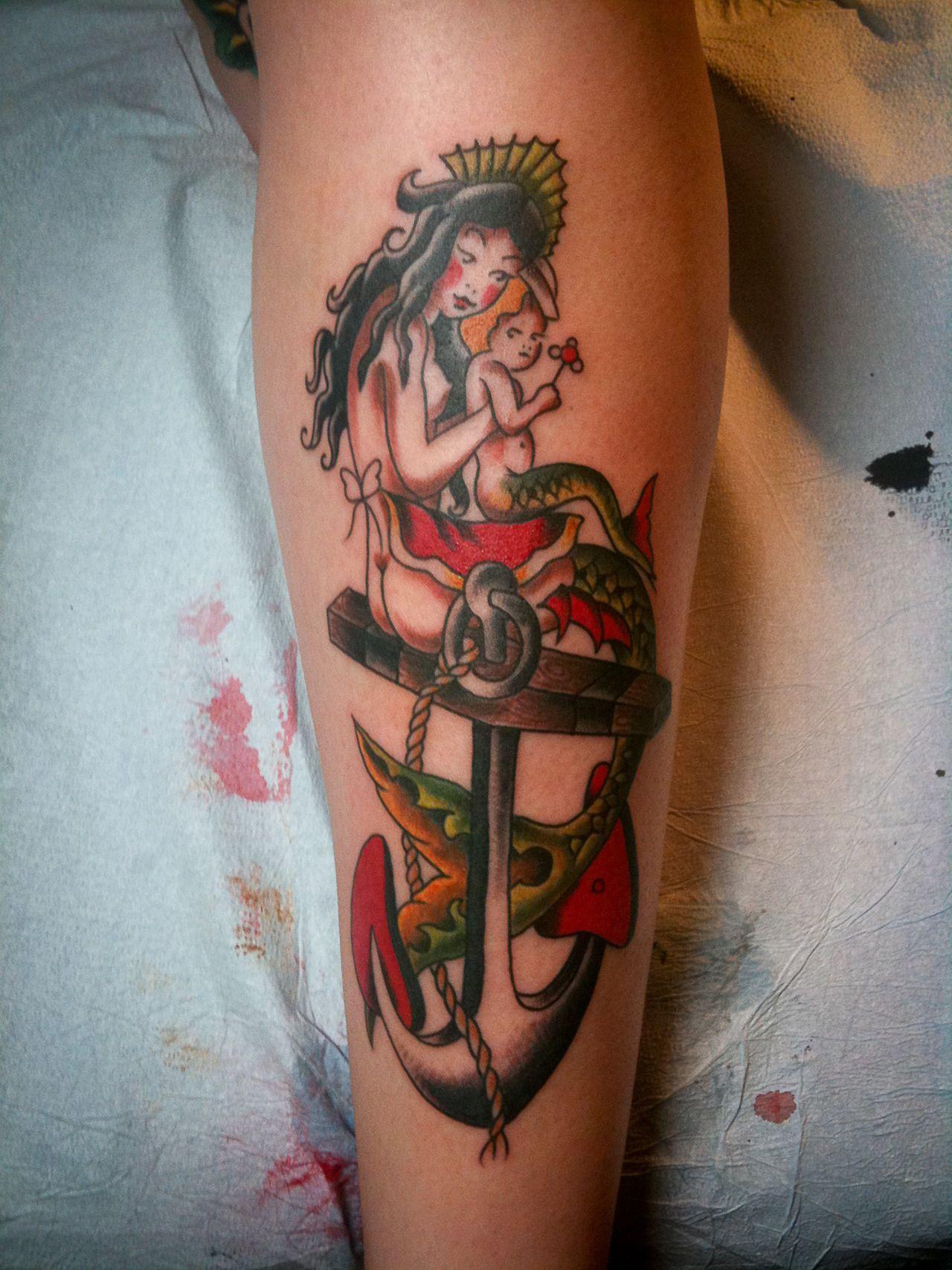 Sailor Jerry flash. | Tattoos, Tattoo skin, Mermaid tattoos