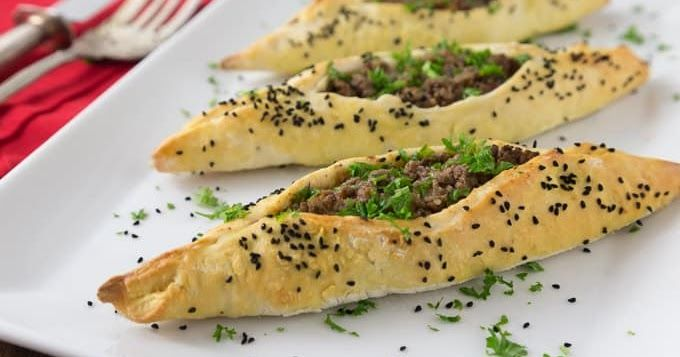 Lebanese savory lamb fatayer recipe lambs arabic food and main dishes forumfinder Image collections