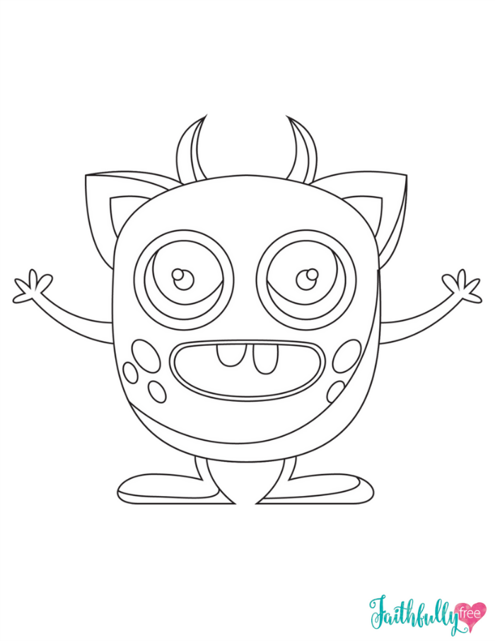 Monster Coloring Pages {Free Printables}
