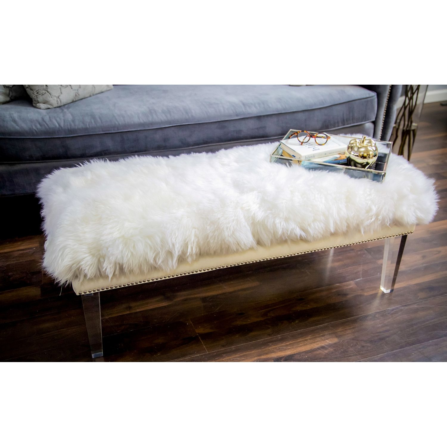 acrylic bedroom furniture. TOV Furniture Luxe Acrylic Bedroom Bench W