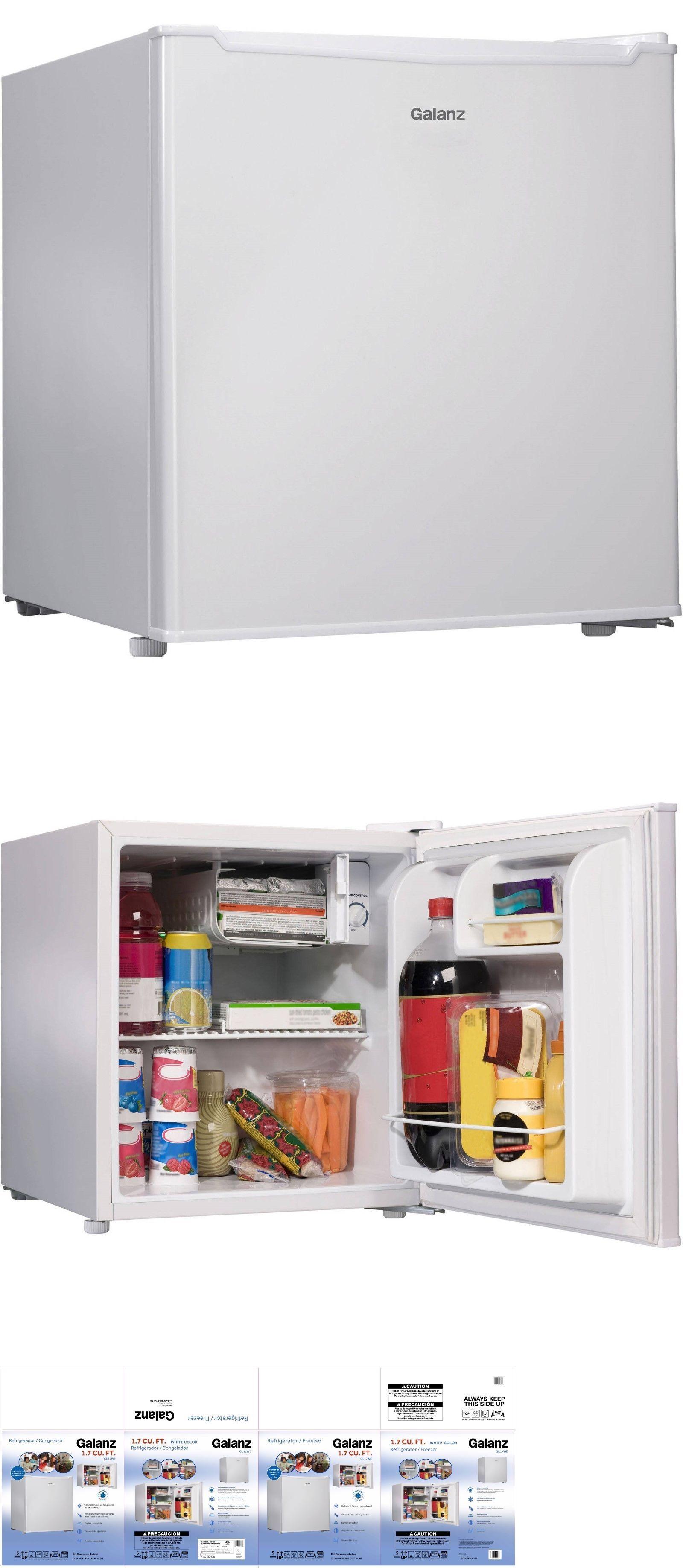 Mini Fridges 71262 Galanz 1 7 Cu Ft Single Door Compact Refrigerator Mini Fridge White Refrigerator Sale Appliances Storage Apartment Size Refrigerator