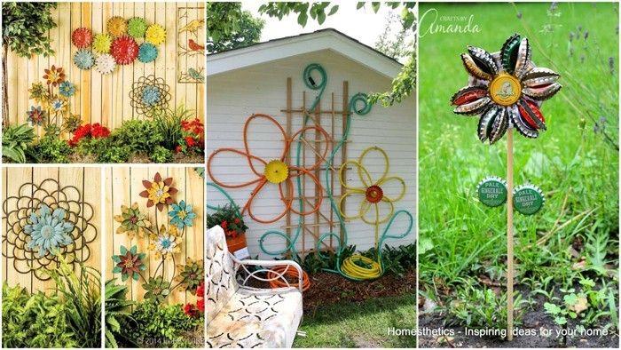 Ausgefallene Gartendeko Selber Machen 101 Beispiele Und Upcycling Ideen Hof Kunst Gartendeko Selber Machen Garten Deko