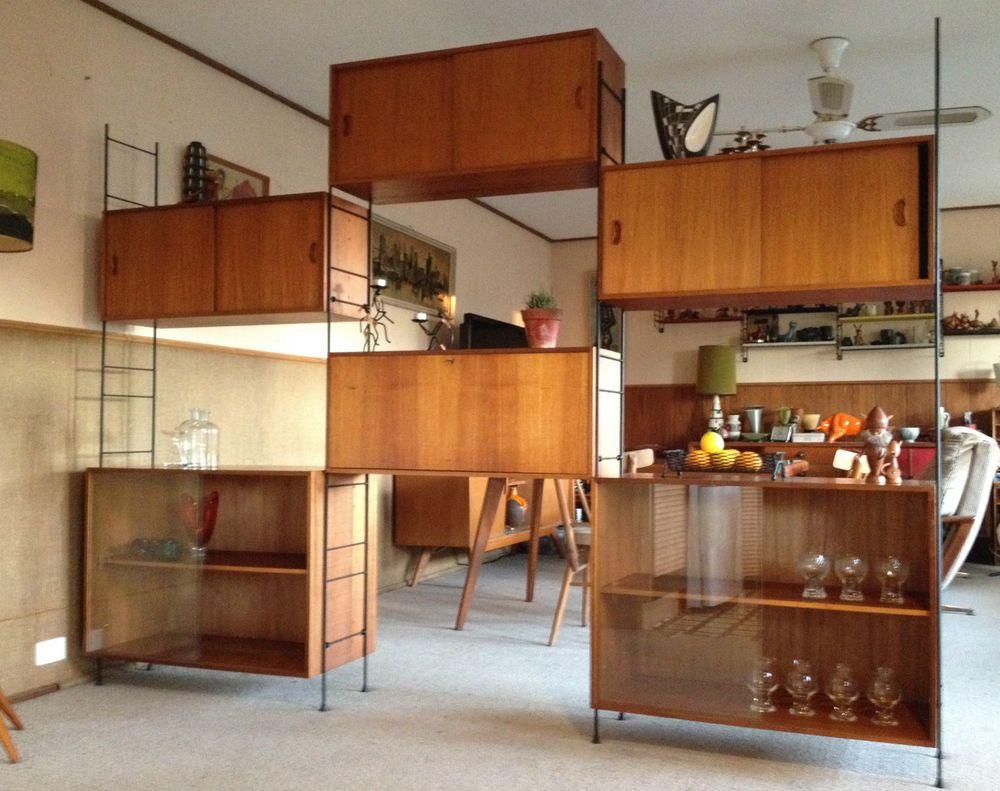 Best Mid Century Vintage Ladderax String Style Modular Shelving 640 x 480