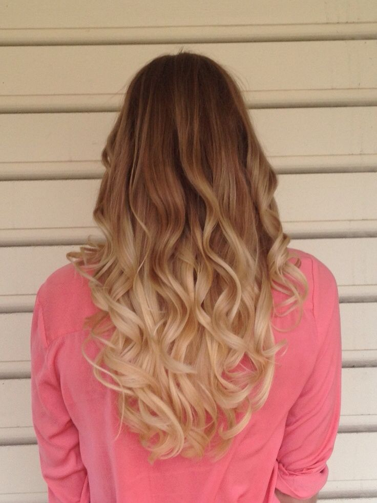Ombre Look Blond Braun Blonde Brunette Frisuren Pinterest
