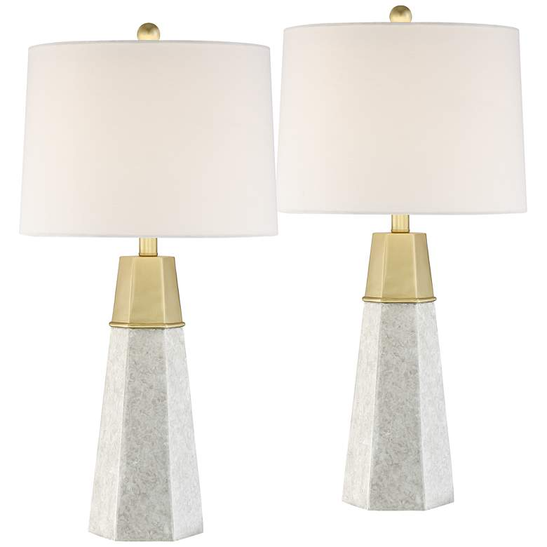 Julie Tapered Column Table Lamps Set Of 2 63r09 Lamps Plus Table Lamp Sets Table Lamp Modern Table Lamp