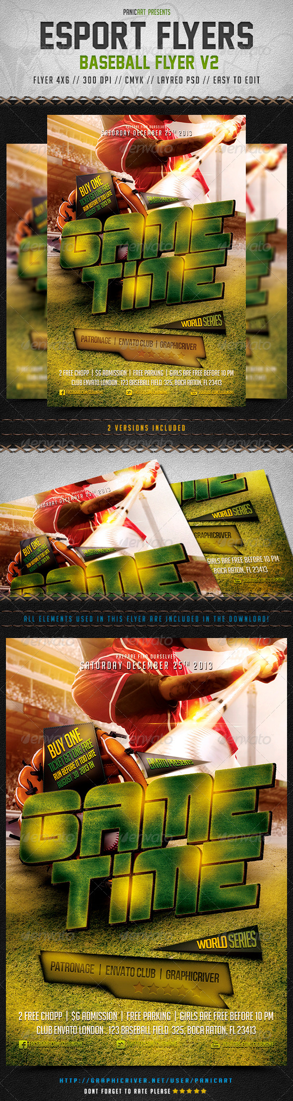 Baseball Flyer V Graphicriver Baseball Flyer V Description