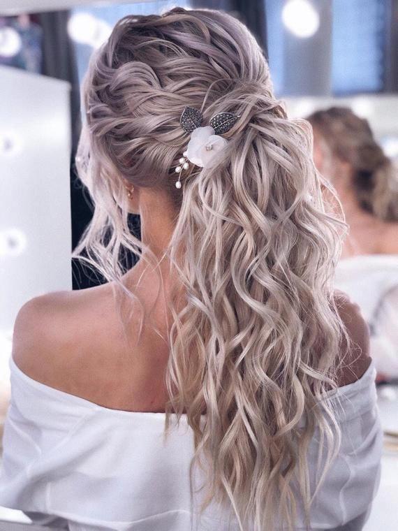 Bridal hair comb Flower hair comb Pearl hair comb Wedding hair | Etsy # ...