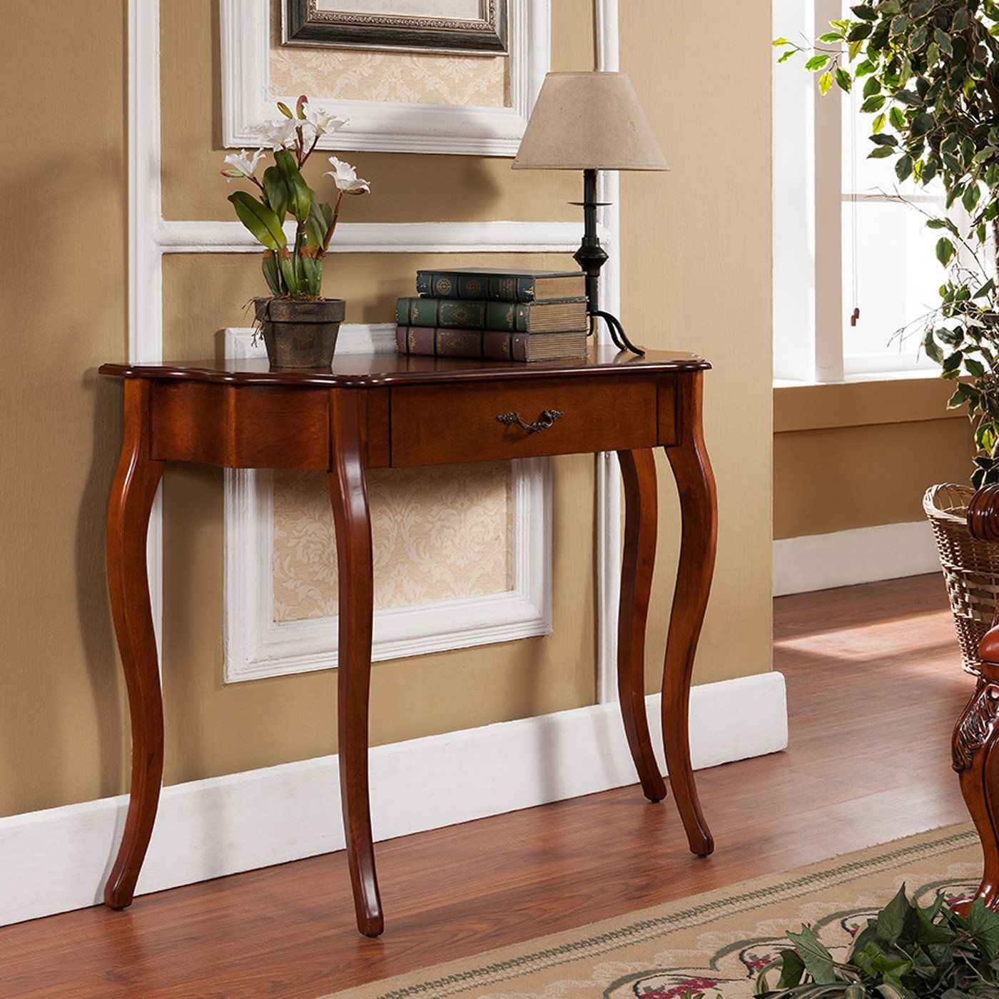 Console Table Wood Curved Elegant Accent Entry Cherry: All Things Cedar Curved Console Table In 2020